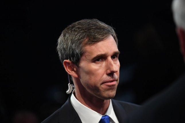 Democratic presidential candidate Rep. Beto O'Rourke unveiled his plan for a labor contract that includes a $15-an-hour minimum wage. Photo by Kevin Dietsch/UPI