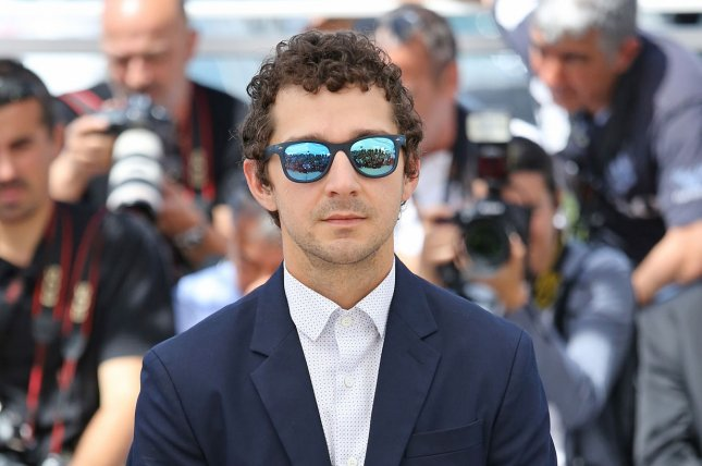 Shia LaBeouf arrives at a photocall for the film American Honey during the 69th annual Cannes International Film Festival in Cannes, France on May 15, 2016. File Photo by David Silpa/UPI