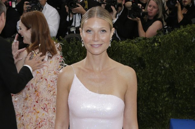 Gwyneth Paltrow attends the Costume Institute Benefit at the Metropolitan Museum of Art on May 1. The actress covered her body in mud for the inaugural issue of Goop magazine. File Photo by John Angelillo/UPI