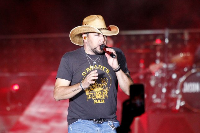 Country music singer Jason Aldean performs on stage during the Route 91 Harvest country music festival shortly before a gunman opened fire Sunday night in Las Vegas, Nev. on October 1. Photo by James Atoa/UPI