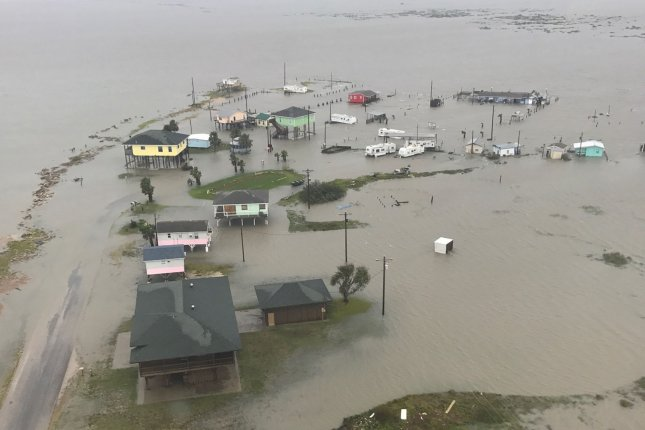 Hurricane Harvey was the most extreme weather event to hit the United States during the last decade, according to a new list published in the periodical Weatherwise. Photo by Texas National Guard/UPI