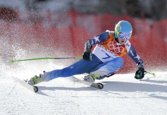 United States' Ted Ligety competes during the men's giant slalom at the Sochi 2014 Winter Olympics on February 19, 2014 in Krasnaya Polyana, Russia. Ligety won a gold medal with a time of 2:45.29 for his two runs. UPI/Brian Kersey