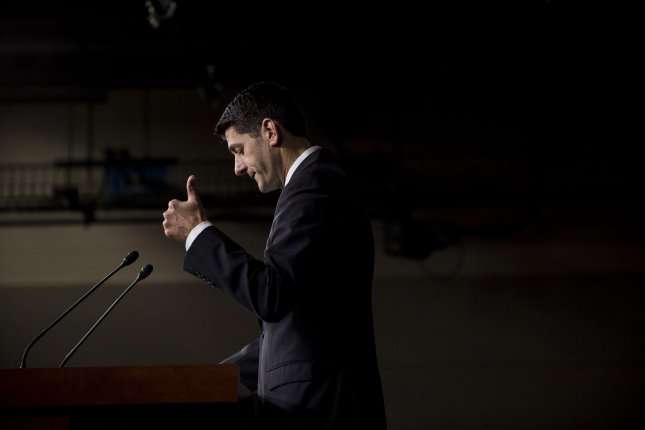 A new Gallup poll showed 48 percent of Americans view House Speaker Paul Ryan, seen here on Sept. 29, in a favorable light. Photo by Pete Marovich/UPI