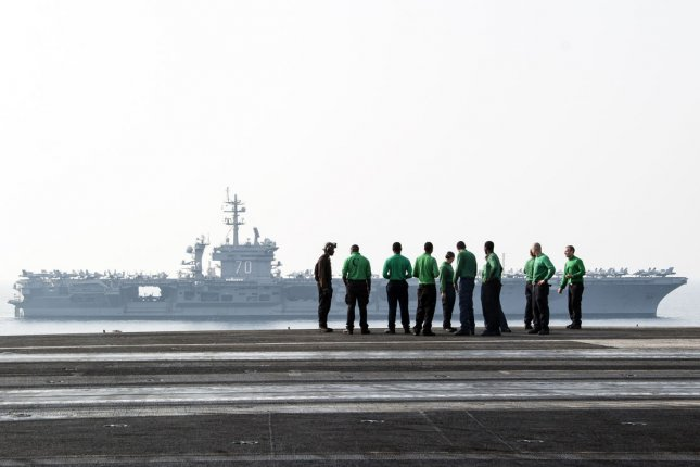 The aircraft carrier USS Carl Vinson will sail closer to North Korea next week, according to a Japanese newspaper. UPI/Brian Stephens/U.S. Navy