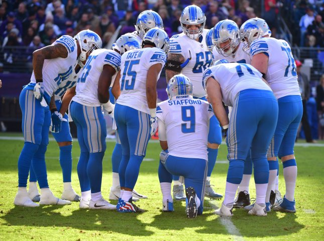 Matthew Stafford and the Detroit Lions toppled the rival Chicago Bears on Saturday. Photo by Kevin Dietsch/UPI