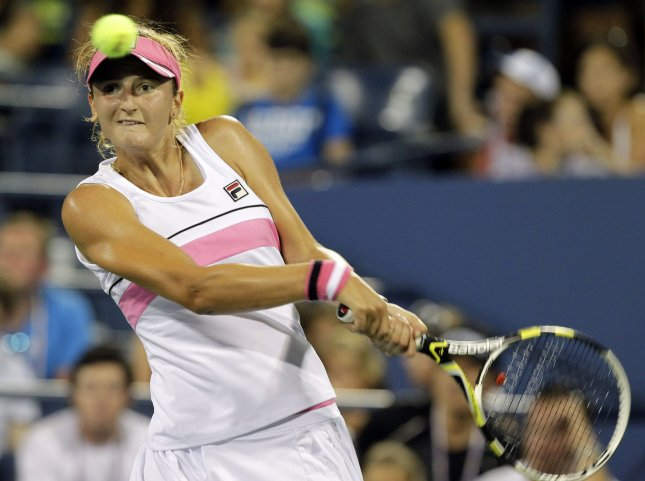 Irina-Camelia Begu, shown during the 2012 U.S. Open, posted a second-round upset win Wednesday at the WTA tournament in Uzbekistan. UPI/John Angelillo