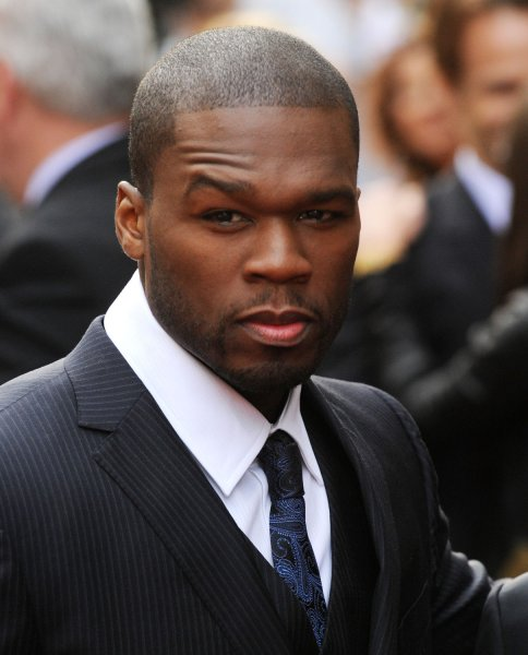 American rapper 50 Cent attends the premiere of Rightous Kill at Empire, Leicester Square in London on September 14, 2008. (UPI Photo/Rune Hellestad)