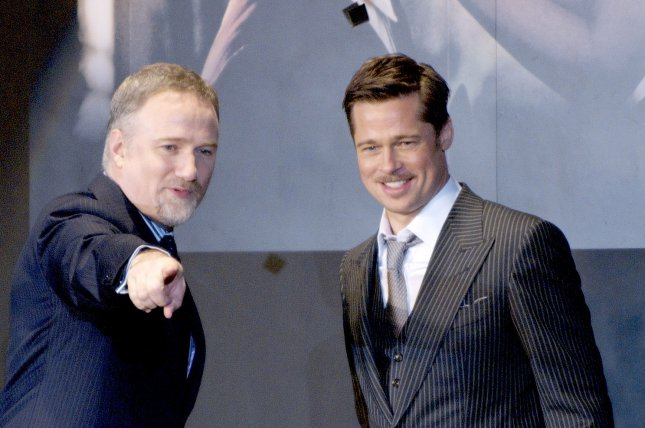 Director David Fincher (L) and Actor Brad Pitt (R) attend for the Japanese premiere of the film The Curious Case of Benjamin Button in Tokyo, Japan, on Jan. 29, 2009. David Fincher and Trent Reznor are working on a 'Fight Club' musical (UPI Photo/Keizo Mori)