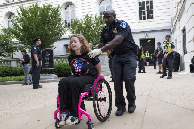Disabled protests