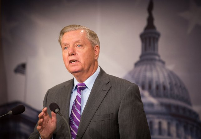 Sen. Lindsey Graham, R-S.C., called for Attorney General Jeff Sessions to return to the Senate Judiciary Committee to tell us everything he knows about whether President Donald Trump's campaign team set up meetings with Russia. Photo by Erin Schaff/UPI
