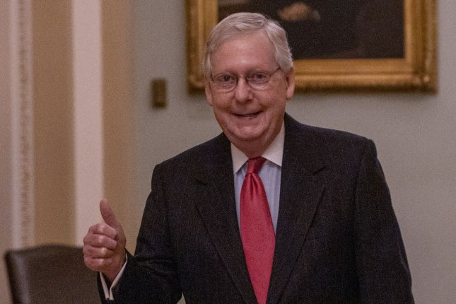 Majority Leader Mitch McConnell said the U.S. Senate would reconvene May 4 with smart and safe protections for lawmakers. File Photo by Tasos Katopodis/UPI