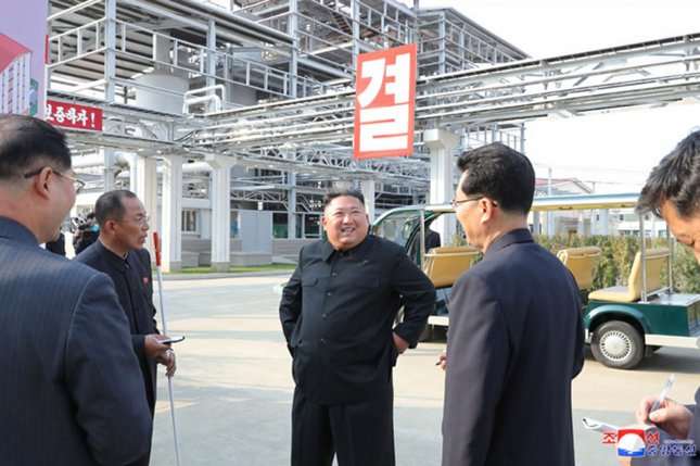 Scientific and technical data are being used at North Korean factories to improve operations, North Korea's Kim Il Sung University says. File Photo by KCNA/UPI