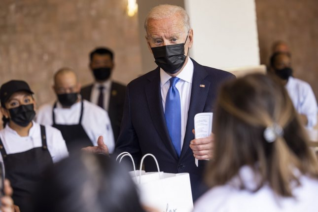 President Joe Biden said Wednesday that a staggering 186,200 applications for COVID-19 revenue relief funding under its Restaurant Revitalization Fund.Photo by Jim Lo Scalzo/UPI