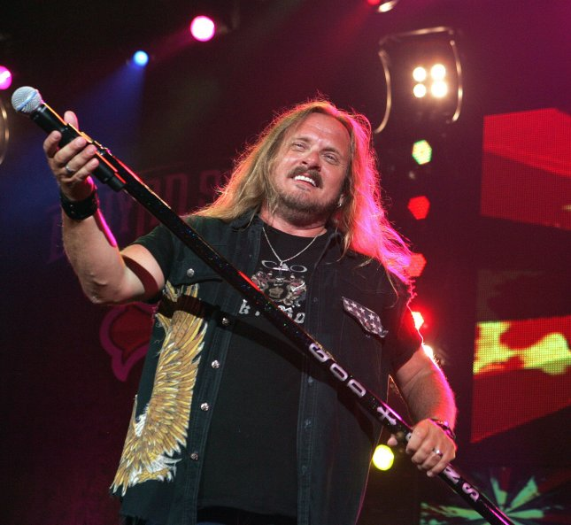 Johnny Van Zant with Lynyrd Skynyrd performs in concert at the Cruzan Amphitheater in West Palm Beach, Florida on June 10, 2010. UPI/Michael Bush