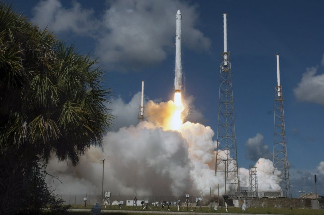 The SpaceX Falcon 9 rocket is set to launch again, six months after the Falcon 9 pictured here suffered an anomoly approximately 148 seconds after it launched at 10:21 AM from Complex 40 at at the Cape Canaveral Air Force Station, Florida on June 28, 2015. Riding on top of the Falcon 9 vehicle is the SpaceX Dragon capsule which was carrying approximately 4,000 pounds of provisions to the International Space Station. File photo by Joe Marino-Bill Cantrell/UPI