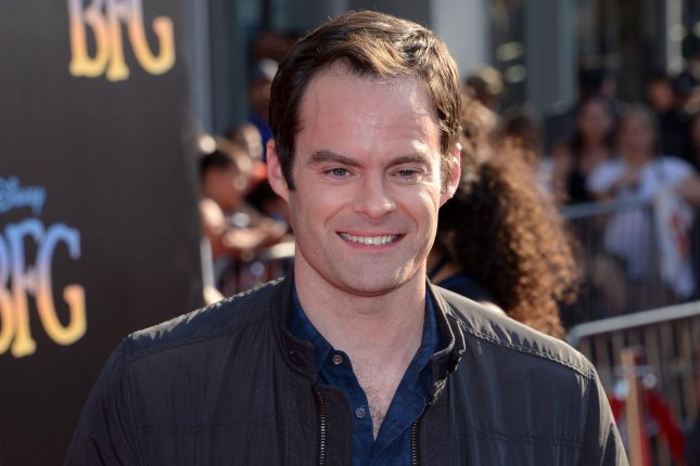 Bill Hader is given a tribute rap in a new promo for an upcoming episode of Saturday Night Live. File Photo by Jim Ruymen/UPI