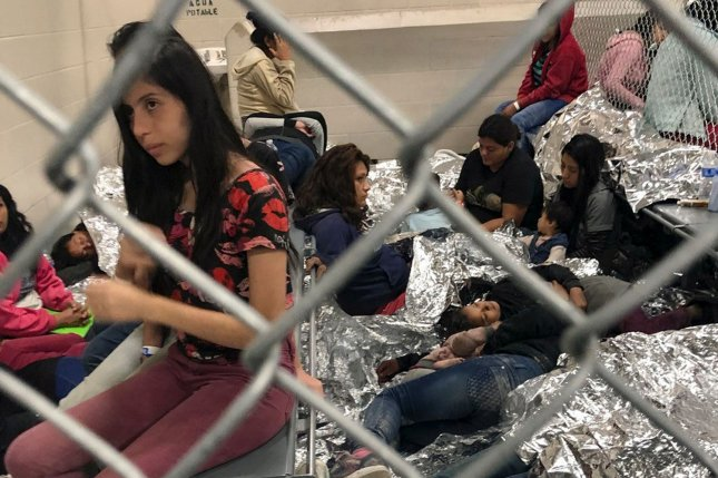 Migrants are seen July 13 at the Central Processing Center in McAllen, Texas. Photo courtesy Rep. Doris Matsui/UPI