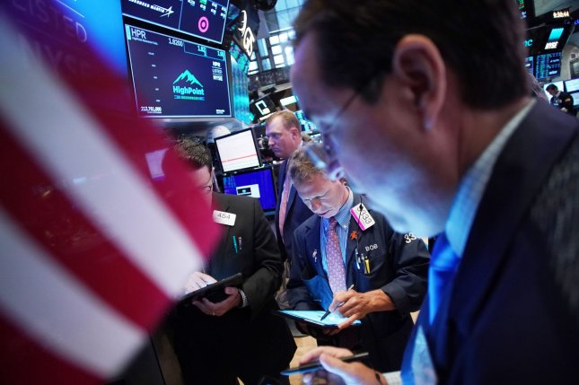 The S&P 500 and Nasdaq Composite closed at record highs on Wednesday. Photo by John Angelillo/UPI