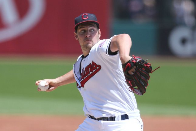 Cleveland Indians starting pitcher Trevor Bauer is 9-8 with a 3.79 ERA and 185 strikeouts this season. File Photo by Aaron Josefczyk/UPI