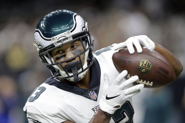 Philadelphia Eagles running back Darren Sproles reached fifth on the NFL's career all-purpose yards list on a punt return Sunday against the New York Jets. File Photo by AJ Sisco/UPI