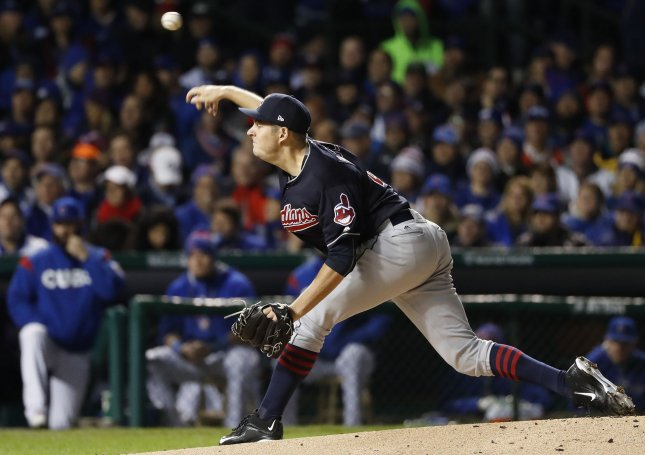 Trevor Bauer and the Cleveland Indians beat the New York Yankees for the second time in two nights. Photo by Kamil Krzaczynski/UPI