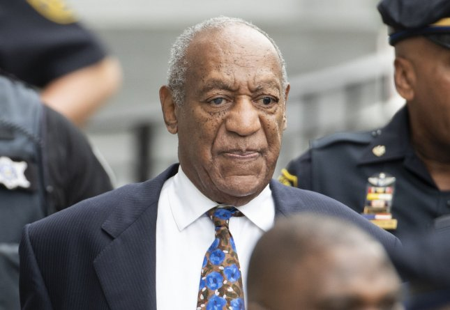 Bill Cosby leaves the Montgomery County Courthouse Monday after a sentencing hearing. Photo by Chris Szagola/UPI