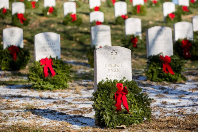 Arlington National Cemetery said Tuesday that it will host the annual Wreaths Across America event in December, one day after the event was canceled due to the COVID-19 pandemic. File Photo by Erin Schaff/UPI