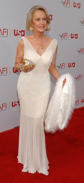 Actress Tippi Hedren arrives for the taping of the American Film Institute's AFI Life Achievement Award: A Tribute to Sir Sean Connery in the Hollywood section of Los Angeles, California on June 8, 2006. The show that honored Connery's long career will be telecast on the USA Network cable channel on June 21. .(UPI Photo/Jim Ruymen)