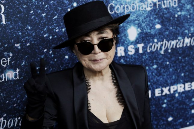 Yoko Ono arrives on the red carpet at the 2014 Women's Leadership Award Honoring Stella McCartney at Alice Tully Hall at Lincoln Center in New York City on November 13, 2014. UPI/John Angelillo