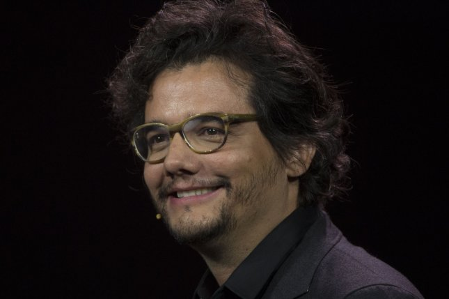 Wagner Moura, who plays drug lord Pablo Escobar on the Netflix series Narcos, appears during the Netflix keynote address during at the 2016 International CES in Las Vegas on January 6, 2016. File Photo by Molly Riley/UPI