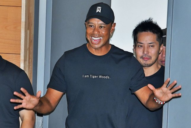Tiger Woods won five skins for $60,000 at The Challenge: Japan Skins Saturday at Accordia Golf Narashino Country Club in Inzai, Japan. Photo by Mori Keizo/UPI