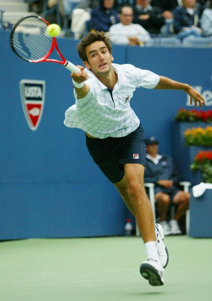 Marin Cilic, shown in a 2009 file photo, has won his last 11 matches at the Zagreb Indoors after a second-round victory Wednesday. UPI /Monika Graff
