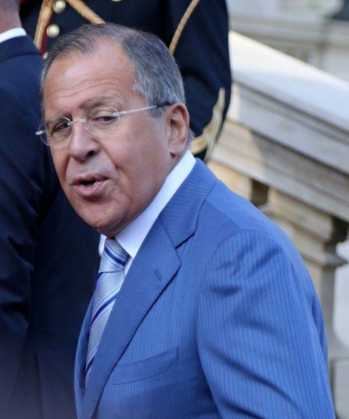 Russian Minister of Foreign Affairs Serguei Lavrov attends the Conference for Peace and Security in Iraq at the Ministry of Foreign Affairs in Paris on September 15, 2014. The conference sought an international alliance against radical terrorist groups, particularly the Islamic State (ISIS). UPI/David Silpa