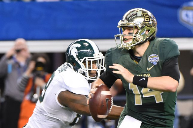 Baylor University's football program has initiated a proposal to play their first game in 2016 in Australia, reportedly against a Pac 12 team. The move is seen by many analysts as an attempt by Baylor to beef up its resume after what was seen as a weak non-conference slate helped keep the team out of the inaugural College Football Playoff in January. Photo: Ian Halperin / UPI