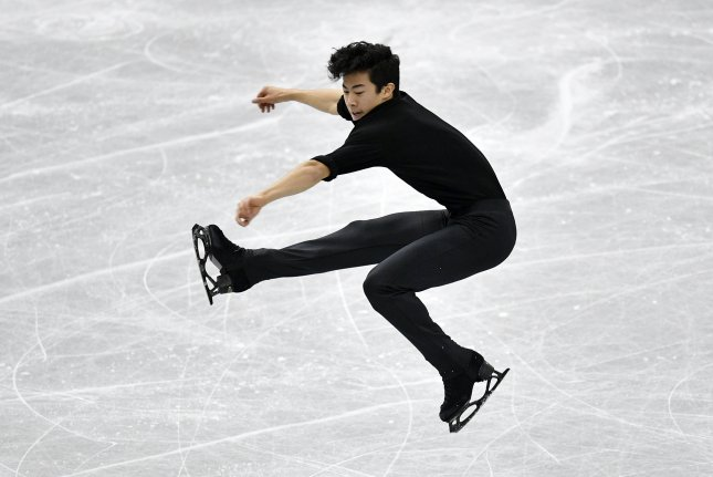 Nathan Chen performs during the men's short program at the Grand Prix competition in Japan on December 7. File Photo by Franck Robichon/EPA-EFE