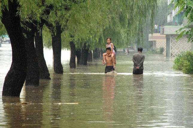North Korea has reported extreme weather conditions in the summer months for years and forecast above average rainfall for August on Wednesday. File Photo by KCNA/EPA-EFE