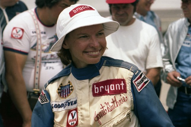 Janet Guthrie was the first woman to drive in the Indianapolis 500 in 1977. She is seen here when she first qualified for the race. File Photo courtesy of INDYCAR/Indianapolis Motor Speedway
