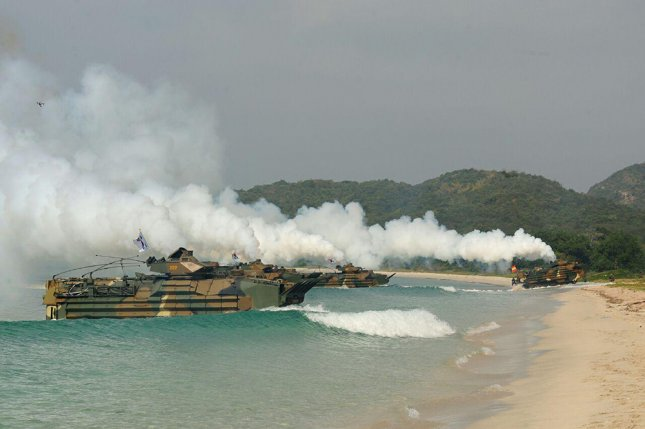 South Korean Navy soldiers and Marines take part in a landing exercise at Hat Yao Beach in Thailand on Feb. 11, 2016. A North Korean submarine went missing according to reports by U.S. officials that had been watching the vessel. It is unclear whether the submarine sank or is floating underwater, but officials believe it experienced some type of failure. The submarine's disappearance came after joint military drills between the U.S. and South Korea led North Korea to threaten pre-emptive strikes.
