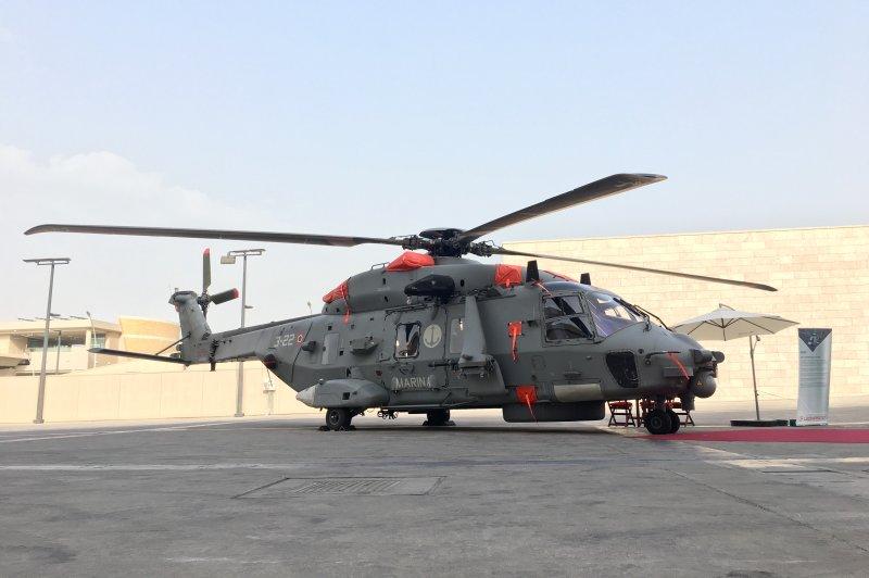 Aerospace company Leonardo will provide 28 NH90 helicopters for Qatar's military, the Qatari defense ministry announced on Wednesday. Photo courtesy of Leonardo