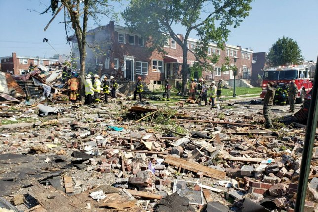At least one person was killed in Monday's explosion, authorities said. A cause is not yet known. Photo courtesy of Baltimore County Fire Department
