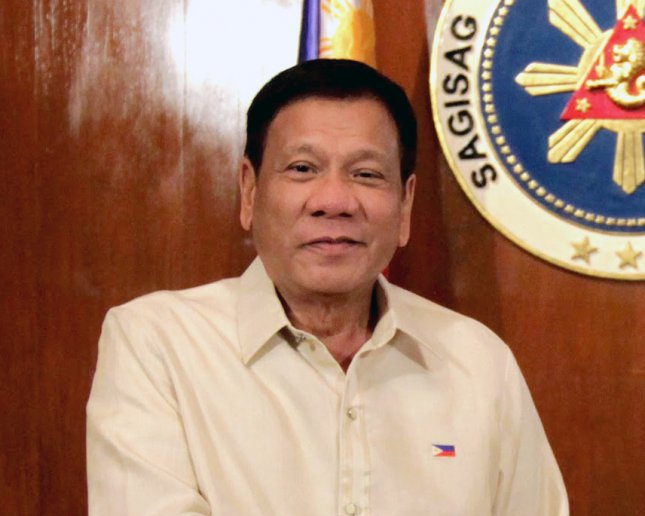 Phillipines President Rodrigo Duterte was critical of Euroopan Union comments about his agressive anti-drug trafficking policy, in an obscentity-filled speech Tuesday 8in Davao City. Photo courtesy Malacañang Photo Bureau