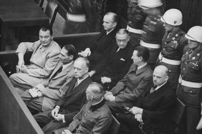 On November 20, 1945, 24 German leaders went on trial at Nuremberg before the International War Crimes Tribunal. File Photo by U.S. Army