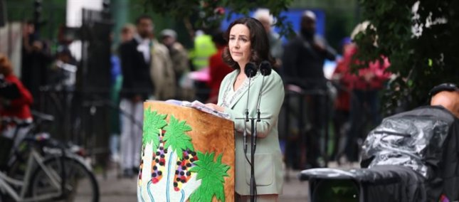 Amsterdam Mayor Femke Halsema apologizes for the city's slavery past Thursday at commemoration ceremony for the abolition of slavery in Oosterpark. Photo courtesy of City of Amsterdam
