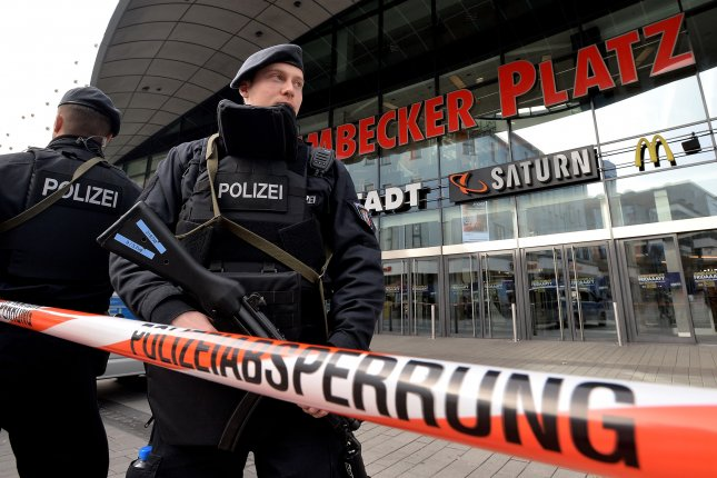 Police in Germany shut down a major shopping center on Saturday after receiving concrete indications of a possible attack.  Sascha Steinbach/EPA