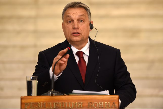 Prime Minister of Hungary Viktor Orban, who is seeking to secure a third term, proposed a global alliance against migration during a state of the nation speech Feb. 18. Photo by Borislav Troshev/EPA-EFE