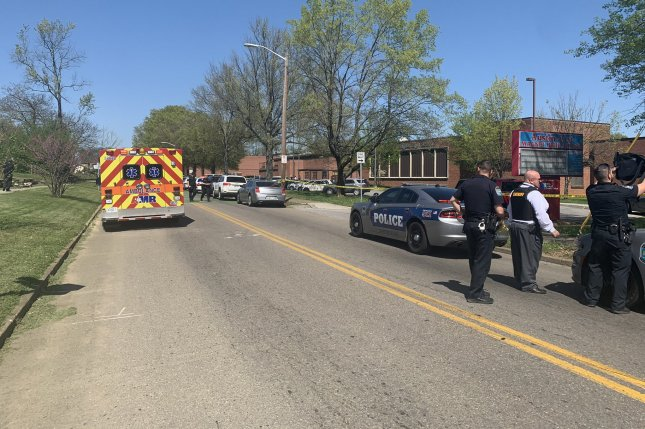 Police on the scene of a shooting at a Knoxville, Tenn., high school Monday said one person was killed in the incident. Photo courtesy Knoxville Police Department