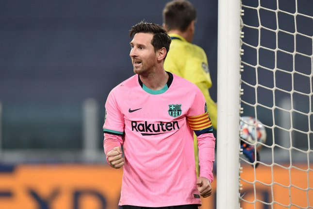 Barcelona forward Lionel Messi scored his 644th career goal for the La Liga squad on Tuesday. File Photo by Alessandro Di Marco/EPA-EFE