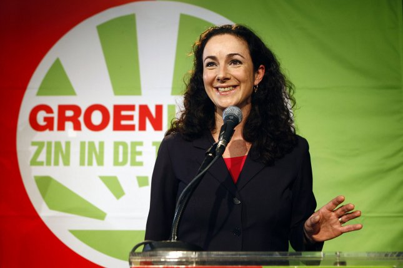 Dutch politician Femke Halsema was chosen as the first woman mayor of Amsterdam. File photo by Ilvy Njiokiktjien/EPA-EFE