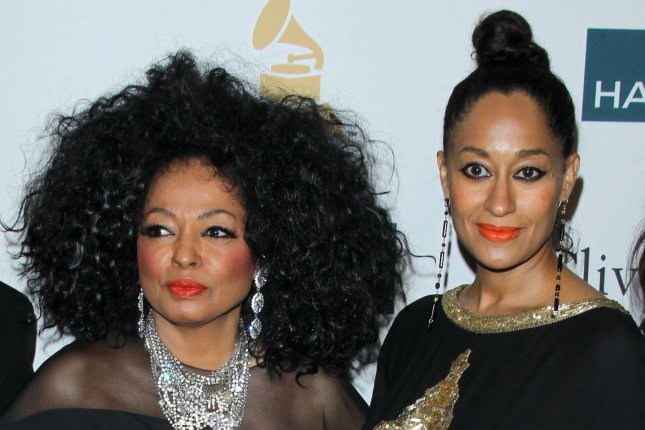 Diana Ross (L) and daughter Tracee Ellis Ross at the Clive Davis pre-Grammy party on February 11, 2012. File Photo by Helga Esteb/Shutterstock