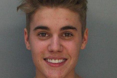 Justin Bieber. (Miami Beach PD/UPI)